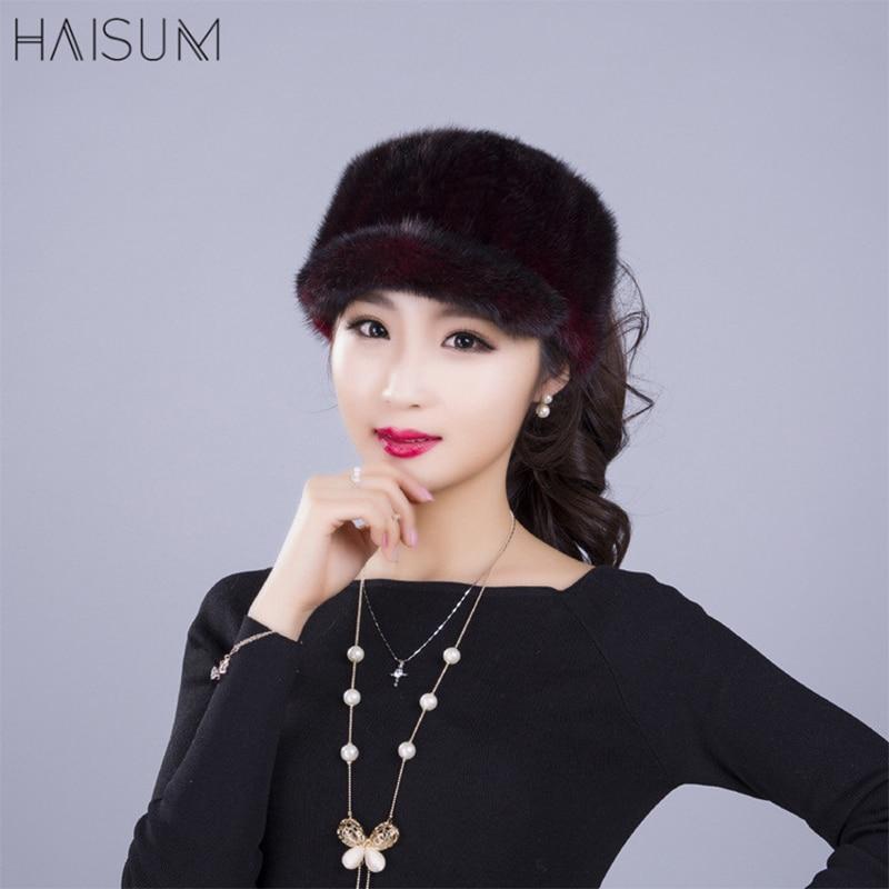 Nouveau mode dames vison fourrure chapeau haut-de-forme chapeau de fourrure chapeau pas top vison chapeau enfants MZ25