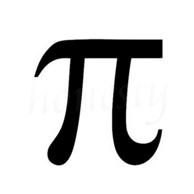 Pi Mathematics Symbol Car Sticker Motorcycle Wall Home Glass Window