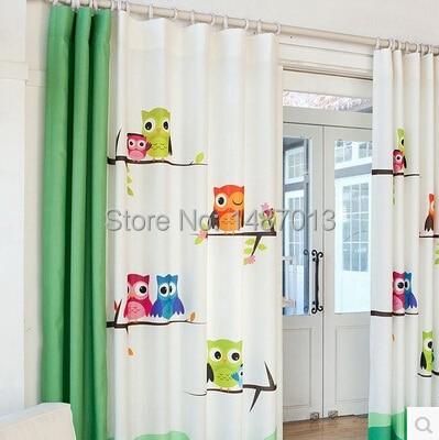 aliexpress : pastoralen cartoon eule kinderzimmer vorhang, Wohnzimmer dekoo