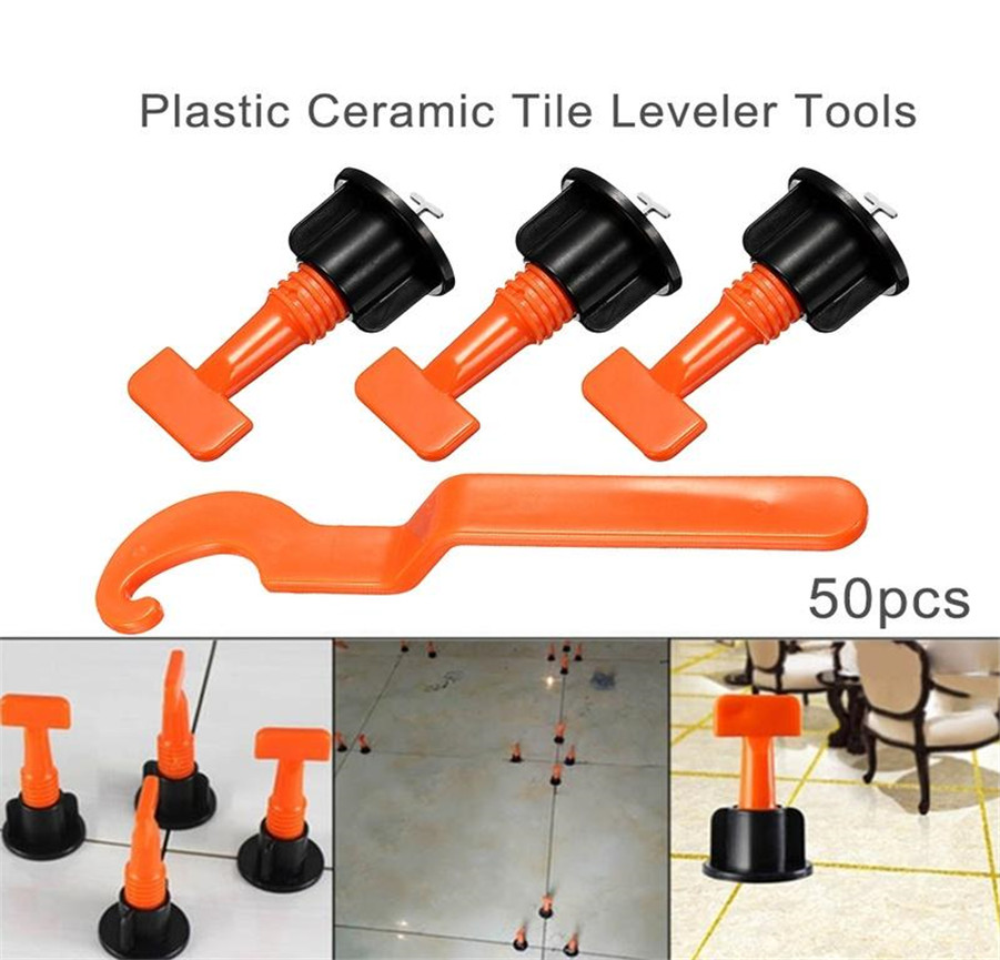 50PCS Tile levellers Mini Level Wedges Alignment Tile Spacers for Wall  Floor Tiles carrelage