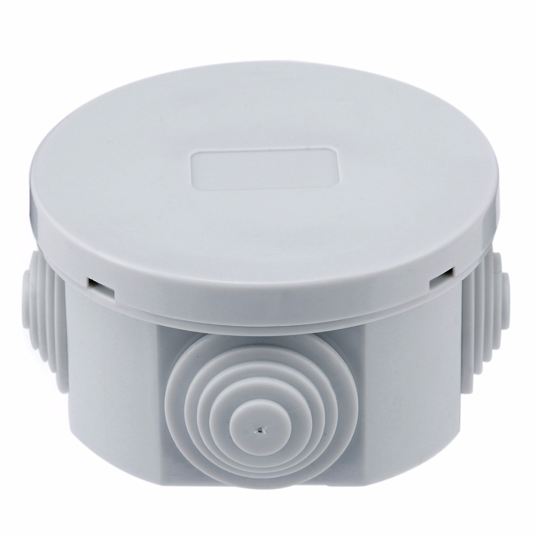 1pc Round Waterproof Weatherproof Junction Box Connection Indoor Outdoor Plastic Electric Enclosure Case For Electricity Railway in Connectors from Lights Lighting