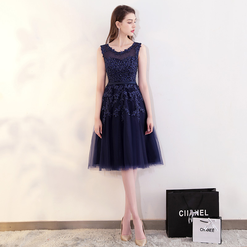 FADISTEE Elegant Long Bridesmaid Dresses Appliques Lace beading short tulle style  Wedding Party Dress Under 50  -in Bridesmaid Dresses from Weddings ... 49faa0fc792a