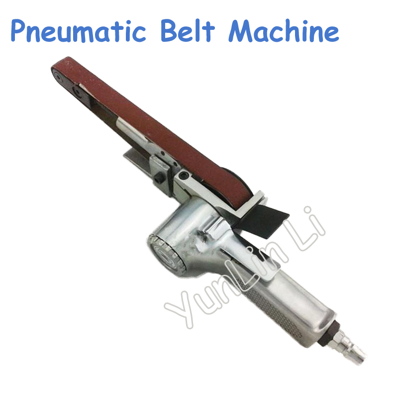 520*20mm Abrasive Belt Polishing Machine Pneumatic Sand Belt Grinding Machine Pneumatic Grinder Air Belt Sander цена
