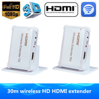 HD Video/Audio Sistema de Transmisión de Señal HDMI 1.4 3D Wireless HDMI extender 30 m/98pies Full HD 1080 P HDMI Receptor Transmisor