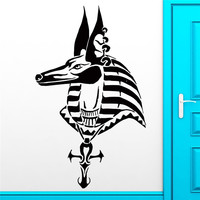 Removable Fashion Wall Sticker Anubis Egypt God Mythology Horse Decal For Bedroom Home Decor Art Vinyl