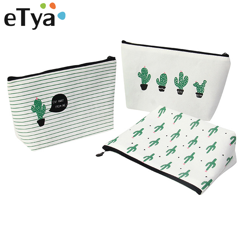 ETya Fashion Women Travel Cosmetic Bag Portable Zipper Beauty Case Female Make Up Bag Wash Kit Bags Makeup Organizer Storage Bag