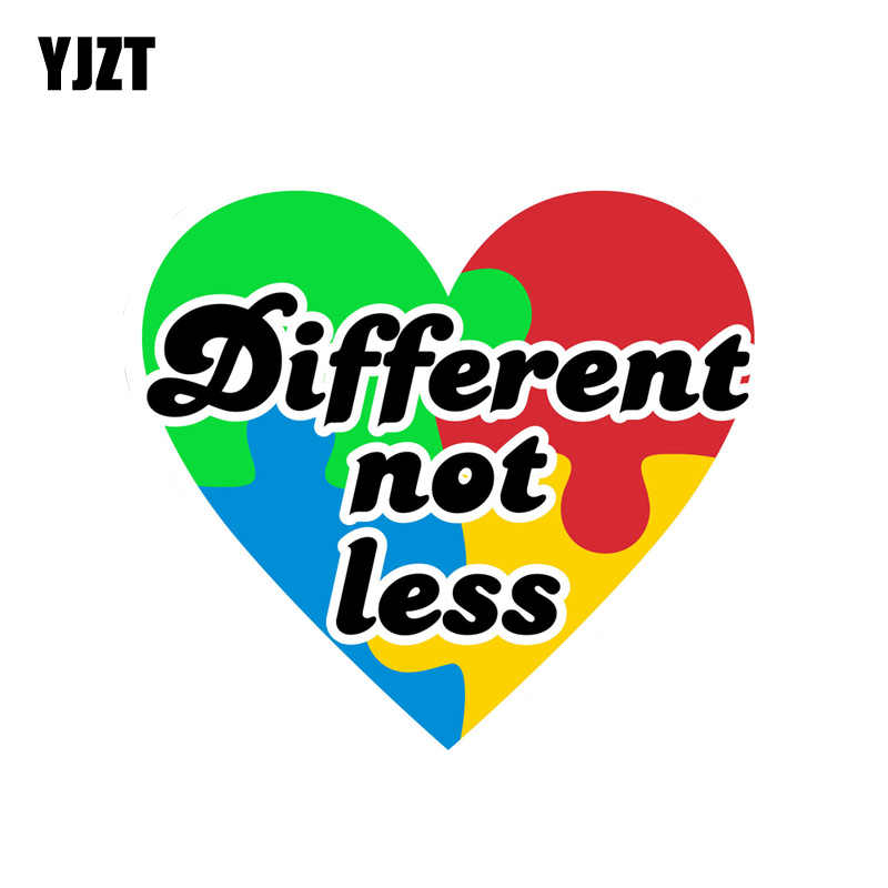 b558765afb4 YJZT 15.2CM*14CM Autism Different not less Heart Puzzle PVC Motorcycle Car  Sticker 11