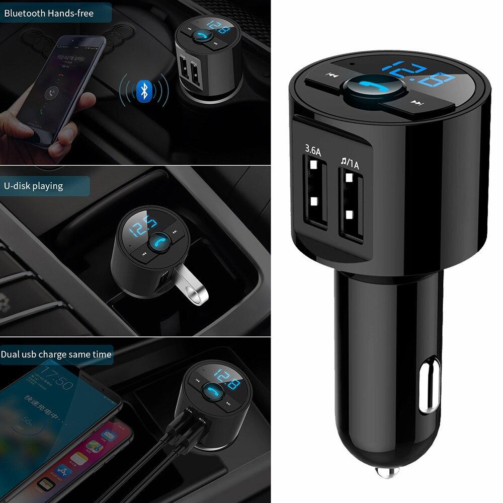1 * Hôte Bluetooth Voiture Kit Mp3 50-100ma Dc12v Sans Fil Fm Transmetteur Double Usb Chargeur Mains Libres Haute Vitesse Usb2.0 #7 Un Enrichit Et Nutritif Pour Le Foie Et Les Rein