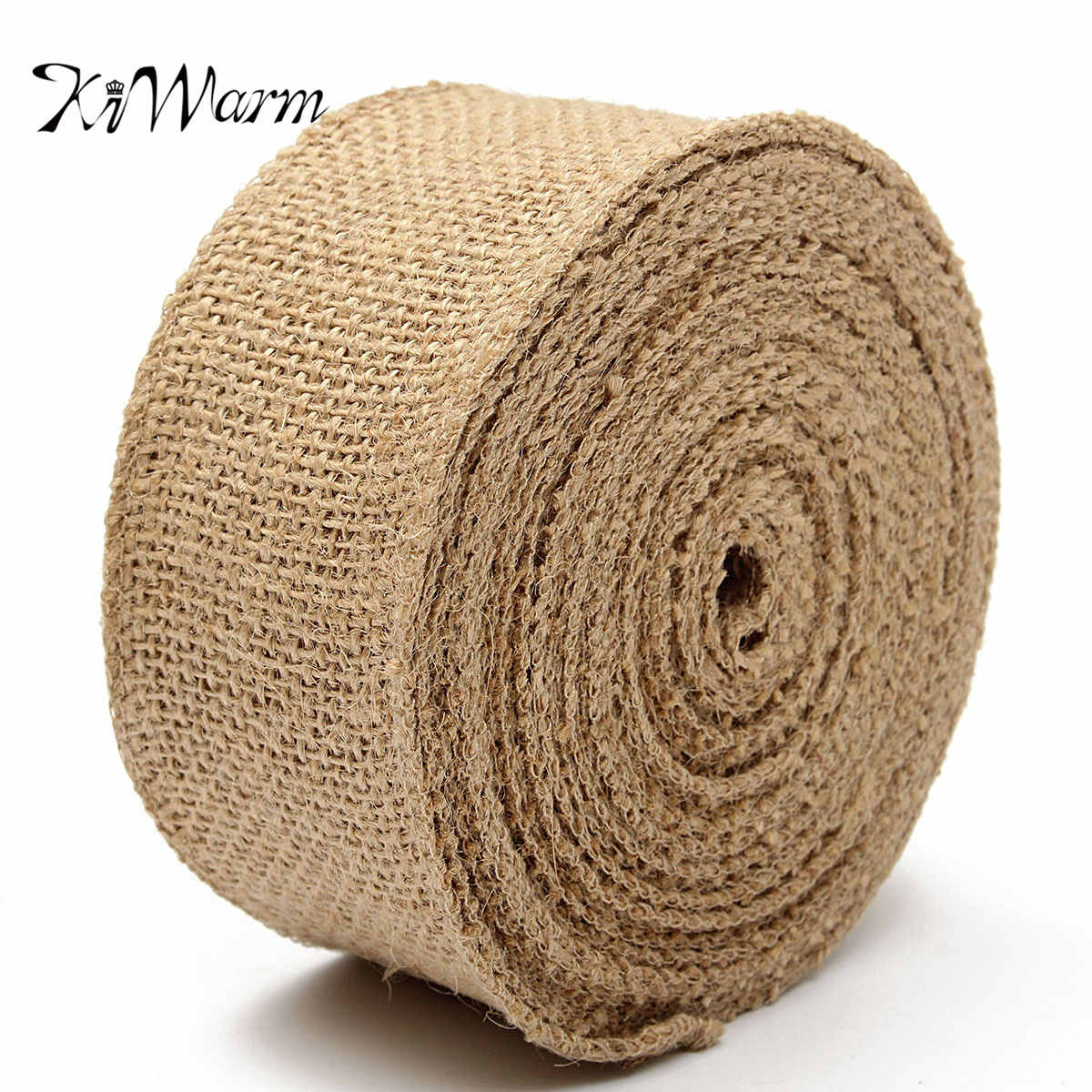 Diy Burlap Wedding Ideas: KiWarm Multi Sizes Natural Jute Hessian Burlap Ribbon