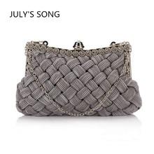 2019 Knitted Handbags Women Handmade Woven Evening Bags For Wedding Bridal Handbags Clutch