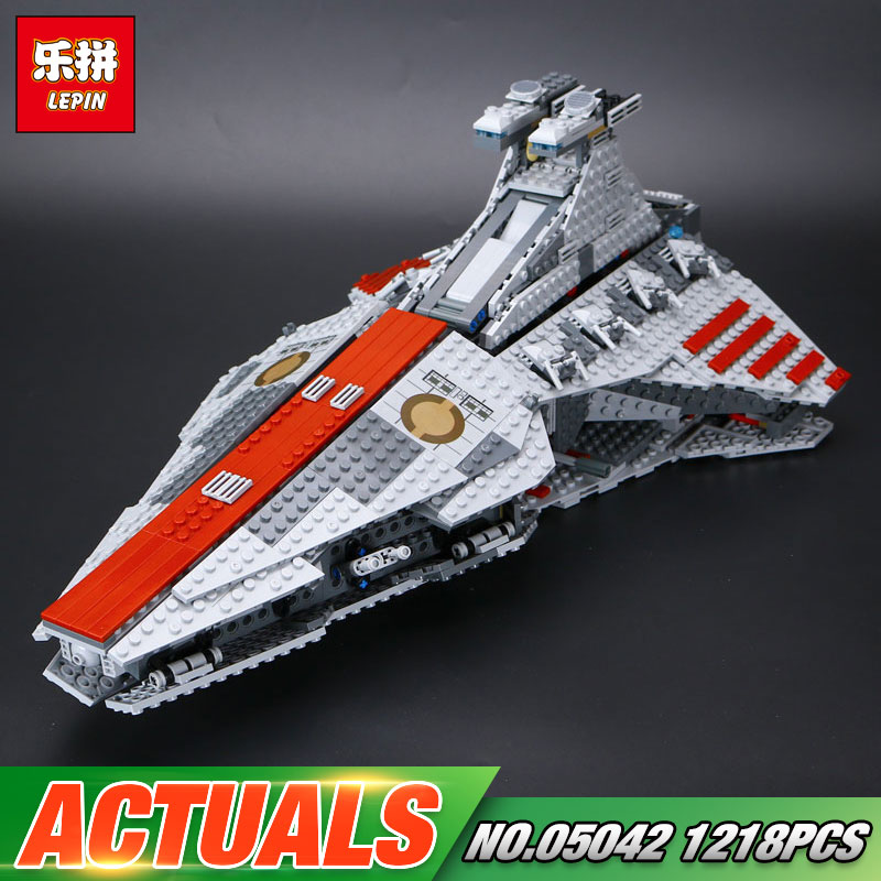 ACTUALS Lepin 05042 Star Series War New The Republic Toys Fighting Set Cruiser Set Building Blocks Bricks Educational Toys 8039 rollercoasters the war of the worlds