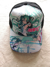 Hatsune Miku Anime Sun Cap Casual Summer Peaked Adjustable Snapback High Quality Mesh Hat Type 1