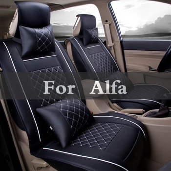 Pu Leather Universal Car Seat Covers All Models Car Place Styling For Alfa Romeo Gtv Spider Mito Disco Giulietta Volante