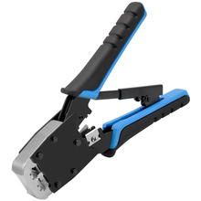 CNCOB Cable Crimper,Modular Crimping TOOl,For Cuts,strips,and Crimps 2 Type Of Plugs In,Dual-use multi-function, 8P/6P