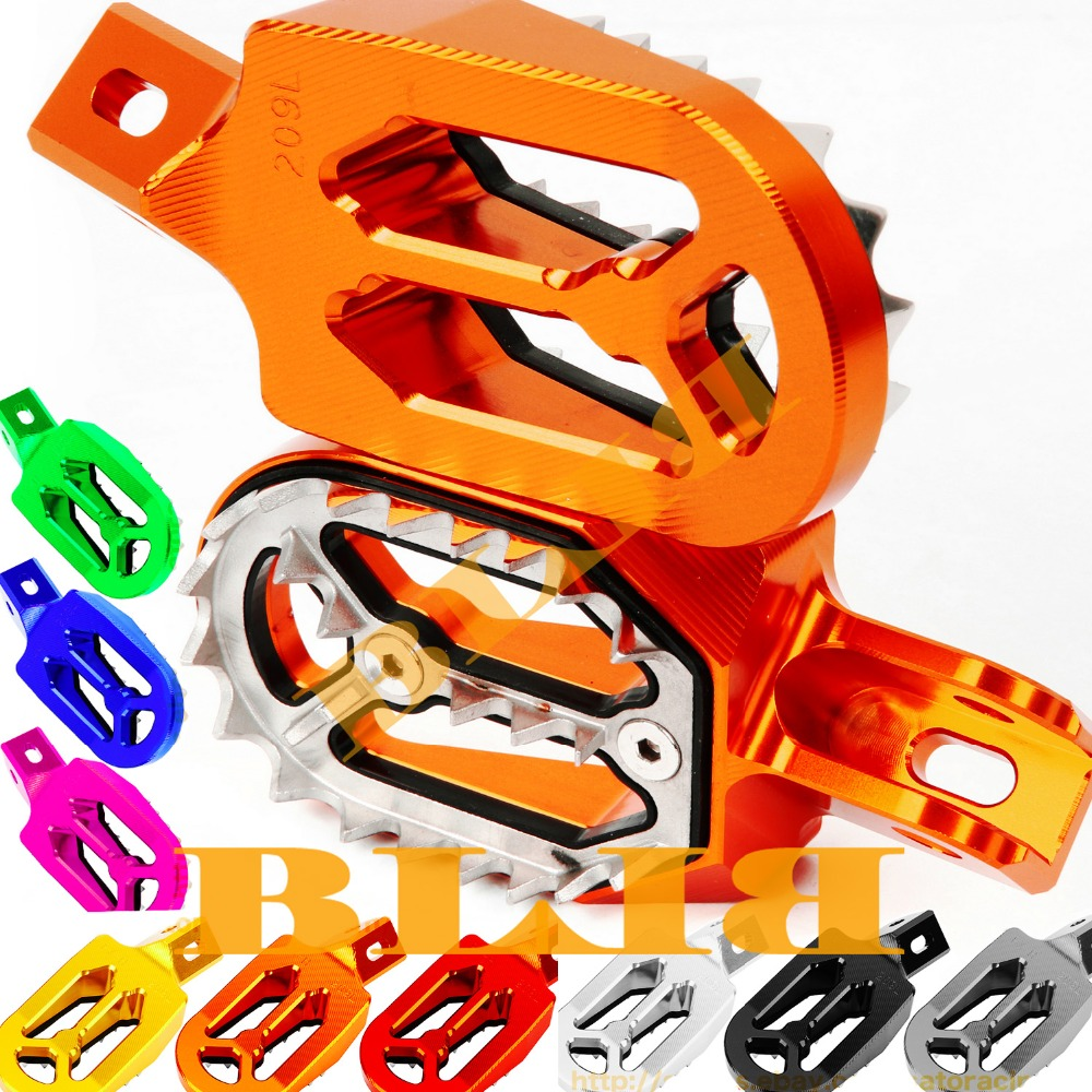 For KTM 144-150 SX 2007-2015 & 250 SX-F EXC-F 2006-2015 Footrests Foot Stakes Footpegs Sharp Teeth CNC Dirt Bike Moto Race Part