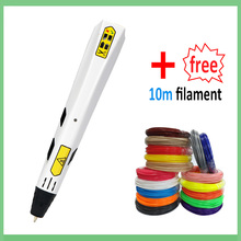 3D printing pen 1.75mm ABS and PLA filament diy drawing pen 3 D printer pen Creative Toy Gift For Kids Design printing pen 1 75mm abs pla diy 3d printing pen led lcd screen 3d pen painting pen filament charger creative toy gift for kids design drawing