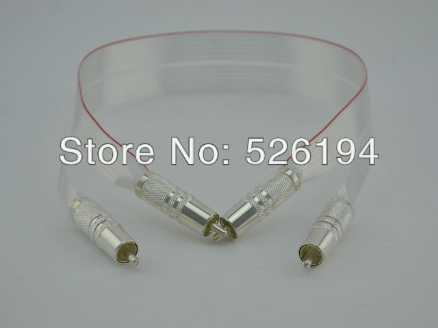 ФОТО Free shipping one Pieces Nordost Red Dawn Audio RCA interconnect cable with Cardas RCA Silver plated connector