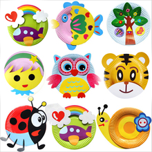 EVA DIY Cartoon Handicrafts Toys For Children Handmade Craft Animal Puzzle Paper Tray Painting Backpack Creative Education Toy