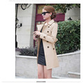 Hot Sale High Quality Women Long Sleeve Trench Double Breasted Trench Coat Outwear 1pc Plus Size Trench Coat For Women Costs