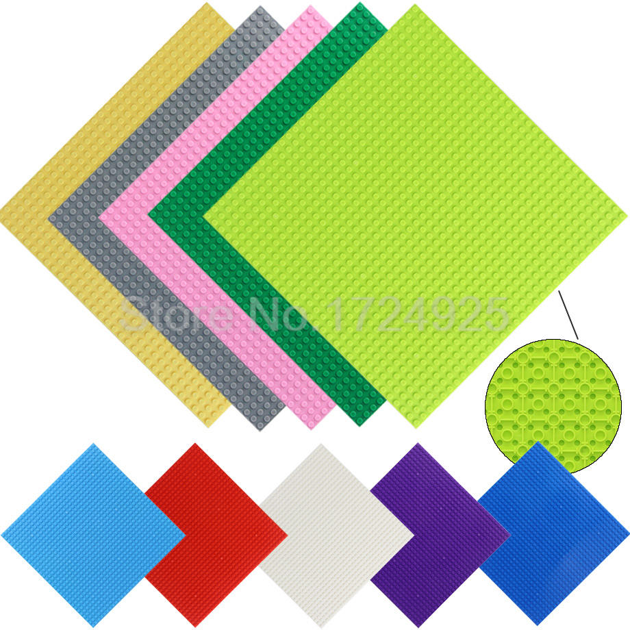 9.8'' Base Plate 4PCS 25x25cm DIY <font><b>32x32</b></font> dots Small Bricks <font><b>Baseplate</b></font> High Quality Building Blocks Toys for Children Legoing image
