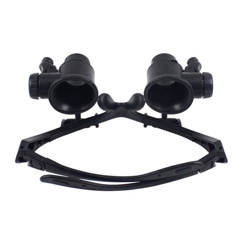 10X 15X 20X 25X nagyítóval dupla LED lámpák szemüveg lencse - Mérőműszerek - Fénykép 5