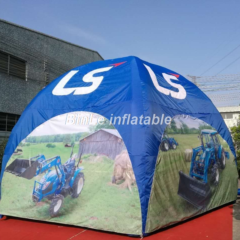 High quality giant inflatable event tent with printings inflatable dome tent spider party tent trade show kiosk for advertising