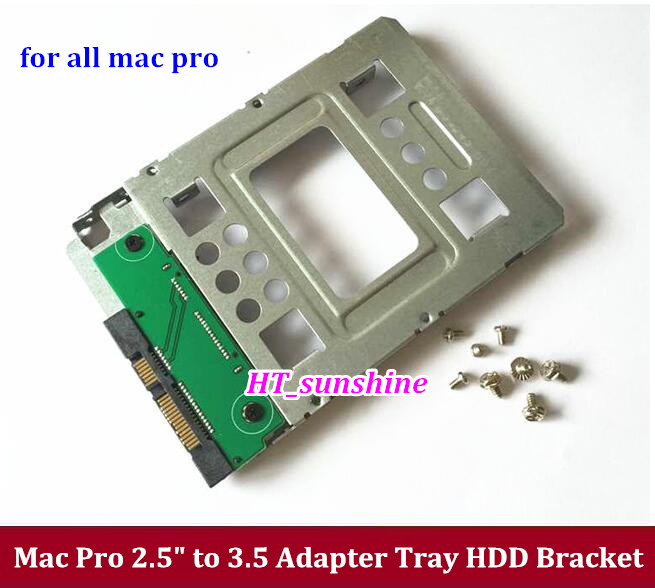 New 2.5 SSD to 3.5 SATA Hard Disk Drive HDD Adapter Caddy Tray CAGE Hot Swp Plug for ALL Mac Pro machine Free shipping 5 25 to 3 5 sata sas hdd hard drive cage adapter tray caddy rack bracket for 3x 5 25 cd rom slot internal or external pc diy