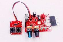Panel Controlador de tiempo y corriente de soldadura por puntos, pantalla Digital de 100A, amperímetro de sincronización, placa de control de soldadores por puntos