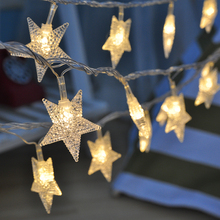 10M 50 Led Lamps Christmas Tree Snow Star String Fairy Lights for outdoor Party Wedding Garden Garland Christmas Decorations