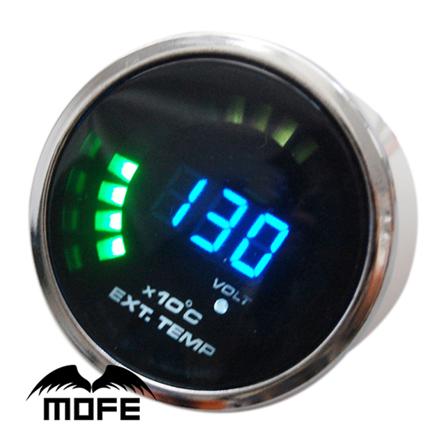 SPECIAL OFFER Original Logo Stepper Motor 20 LED Digital Diameter: 52mm Exhaust Gas Temperature Gauge With Sensor