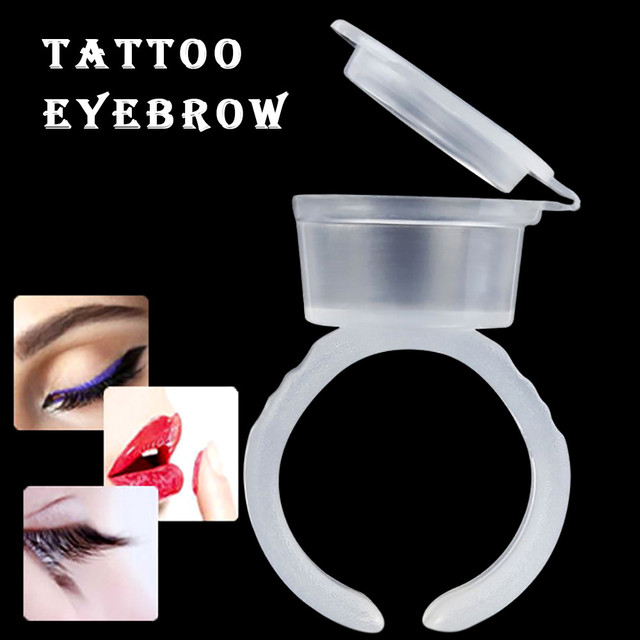 Tattoo Accessories Permanent Makeup Tools Eyelash Extend Micro Ring Cups Ink Cup Equipment Microblading Tattoo Pigment Holder 1