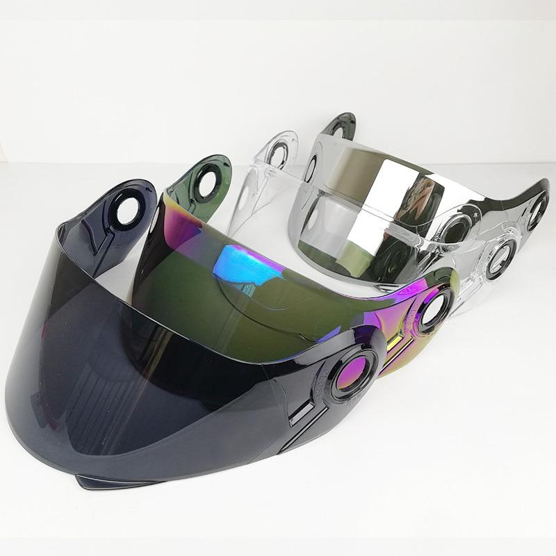 D'origine LS2 FF370 flip up moto casque pare-soleil suitabl pour FF394 FF325 casque multicolore résistant aux rayures plein bouclier