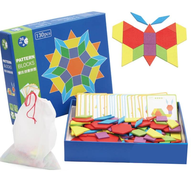 130pcs/set Wooden Puzzles Toys for Children Kids Baby ...