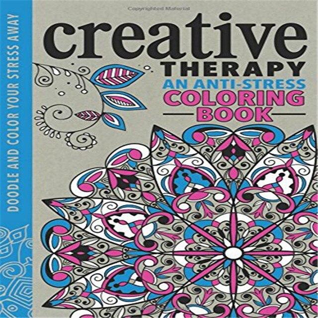 Creativa Terapia: Un Anti Estrés Coloring Book (Inglés), Lápiz Libro ...