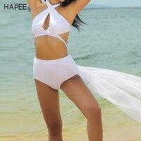 المرأة تويست زائد حجم ارتفاع الخصر الرسن البرازيلي مايوهات شبكة السباحة ارتداء الشاش أسفل ريترو ضمادة بيكيني