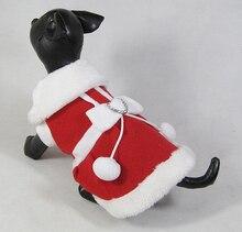 Pet dog clothes Santa's Custume Female Rhinestones Heart-shaped adornment red