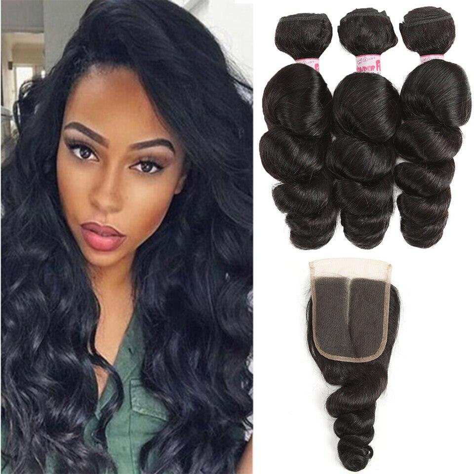 Joedir Hair Brazilian Bouncing Curl Mänskligt Hår 4 Bundlar Deal - Skönhet och hälsa