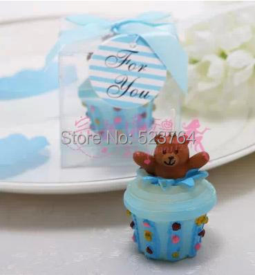 Teddy Bear Cupcake Candle Baby Shower Favors Birthday Gift In