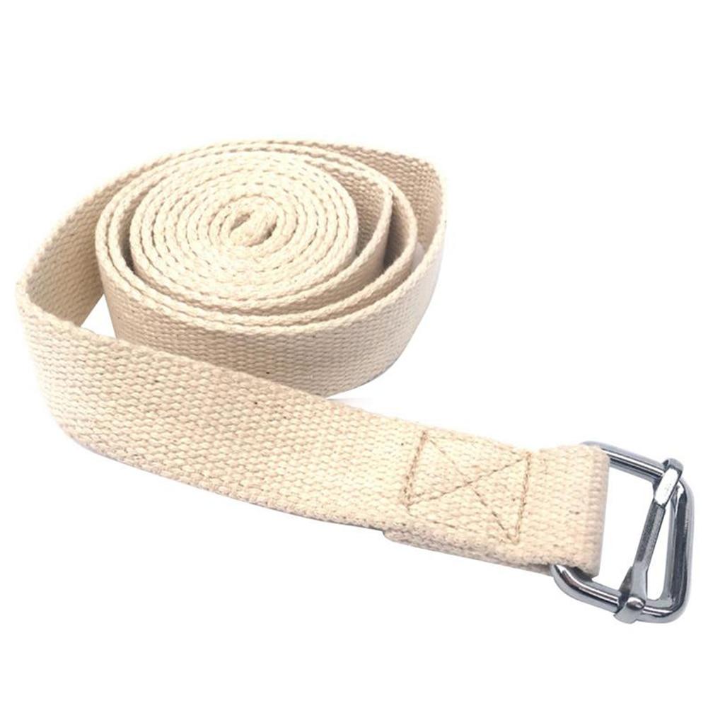 ①  Хлопковая смесь с пряжкой Прочный ремень для пилатеса Регулируемый сгущает Anti Slip Yoga Belt Трени ✔