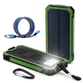 DCAE Водонепроницаемый Солнечной Банк силы 12000 мАч Dual USB Внешняя Батарея солнечное Зарядное Устройство с Сид для iPhone 6 7 Samsung телефон