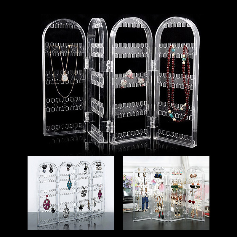 Earrings Ear Studs Necklace Jewelry Display Rack Stand Holder Organizer Holder Case Box @M23