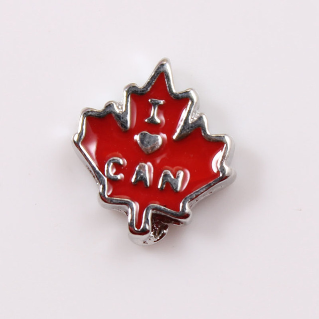 Mix Love Canada Floating  Charms Floating Charms Fit For Living Glass Locket 30pcs