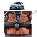 Envío libre de cuero alfombra alfombra del piso del coche para peugeot 308 308 5-puertas T9 de segunda generación 2013 2014 2015 2016 2017