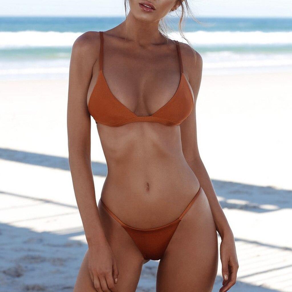 HTB1DHzgbRCw3KVjSZFlq6AJkFXap 2019 Woman Thong Swim Set Sexy Swimwear Micro Swim Suits Girls Biquinis Female Solid Swimsuit Bathing Suits