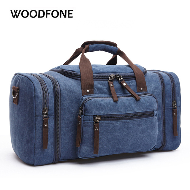 Original Z.L.D Canvas Men Travel Bags Carry on Luggage Bags Men Duffel Bag Travel Tote Large Weekend Bag Overnight high Capacity