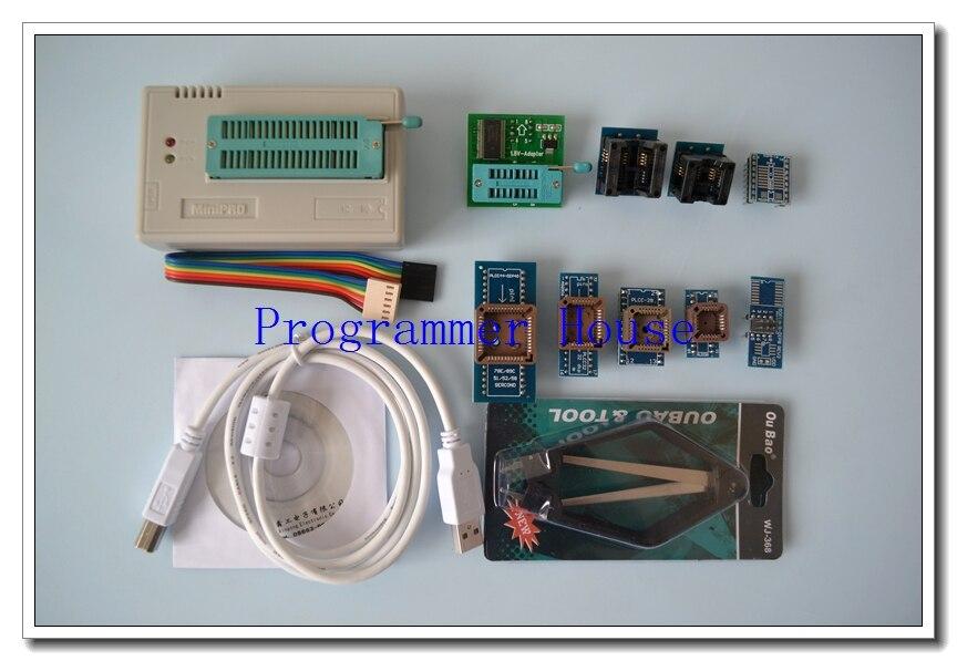 100% original XGECU V7.05 TL866II Plus  TL866A nand flash 24 93 25 USB Universal bios AVR programmer+8adapters+V1.8+PL clip free shipping program ch2015 usb high speed programmer 300mil fp16 to dip8 socket eeorom spi flash data flash avr mcu programmer