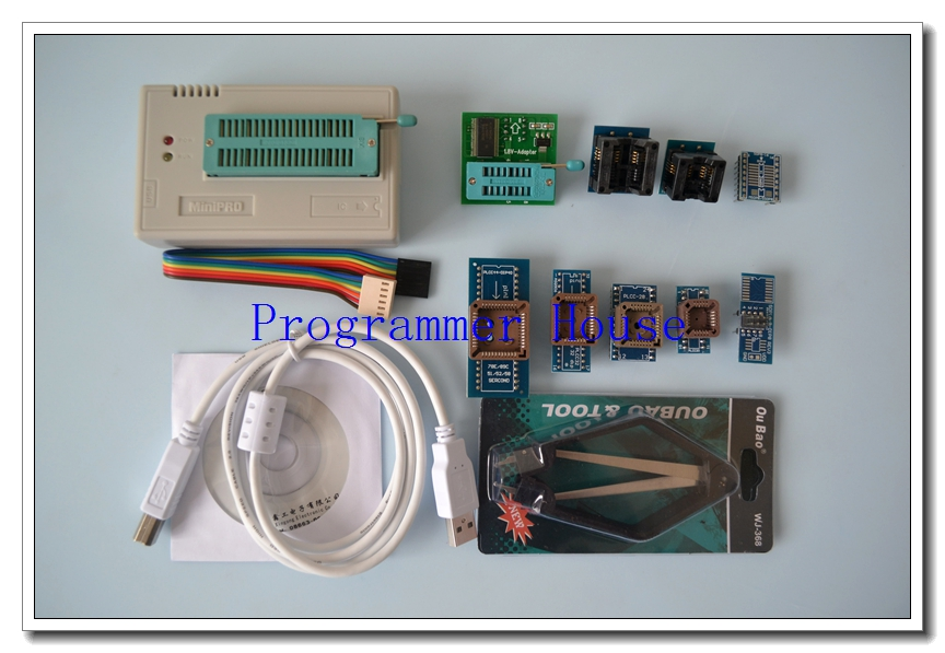 100% original XGECU V7.21 TL866II Plus  TL866A nand flash 24 93 25 USB Universal bios AVR programmer+8adapters+V1.8+PL clip
