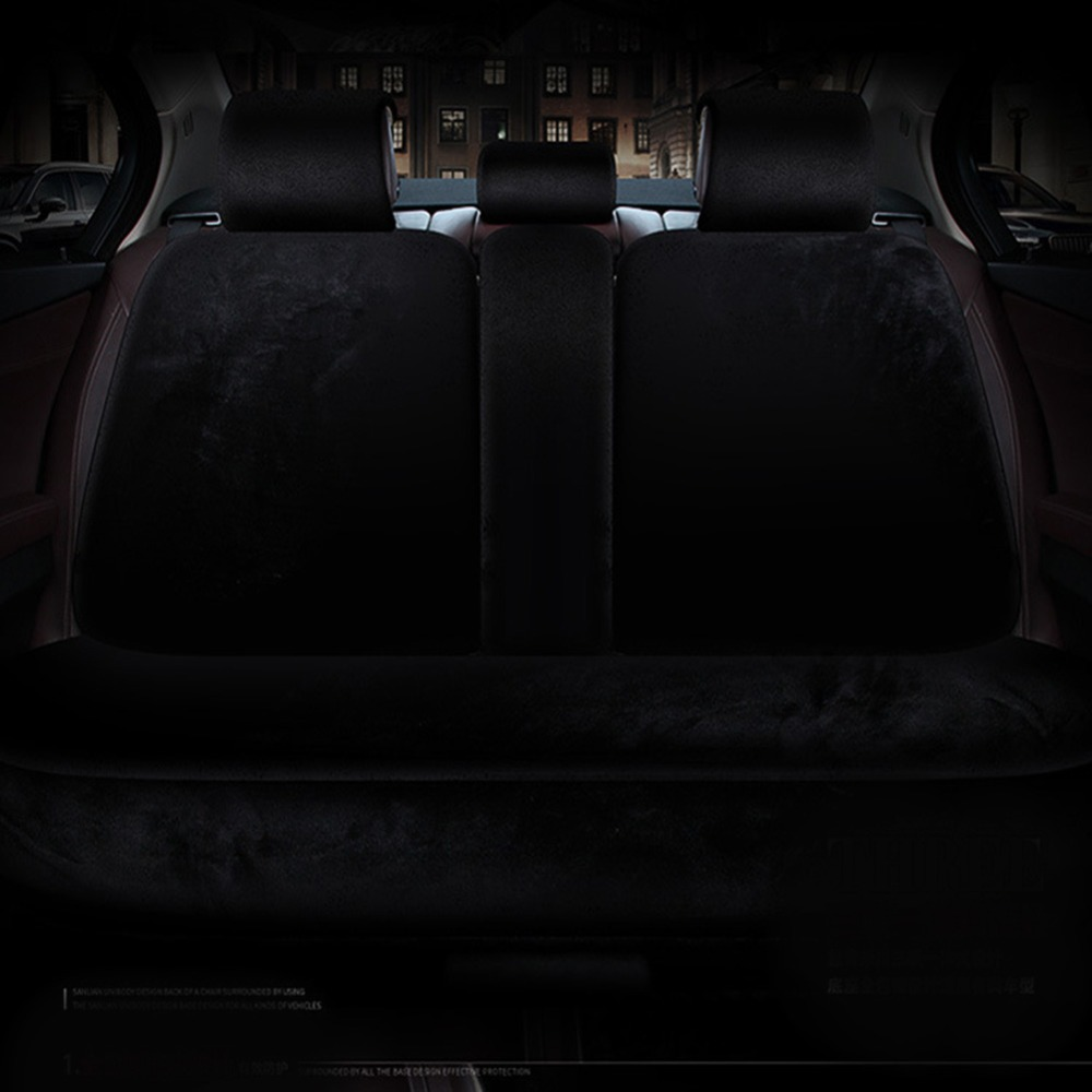 plush seat cover rear bench