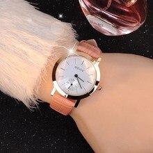 Marca de Alta Calidad Reloj de Cuero Genuino de Las Mujeres de Ocio de Moda Casual Retro Simple Y Elegante del Enchufe de Fábrica de Pulsera