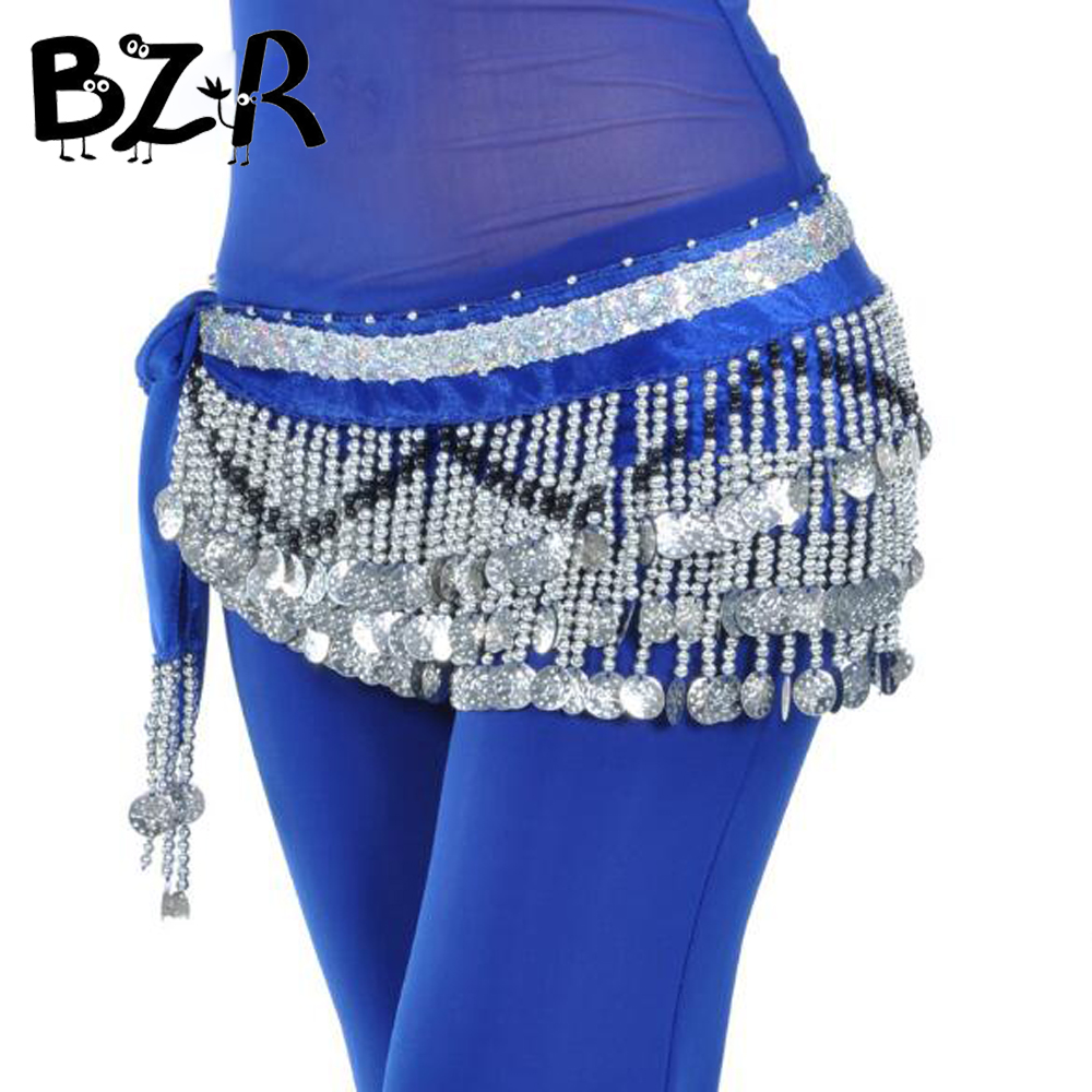 Bazzery Belly Dance Skirt Costumes Women Belly Belt Three Layer Wave 258 Coin Genuine Ch ...